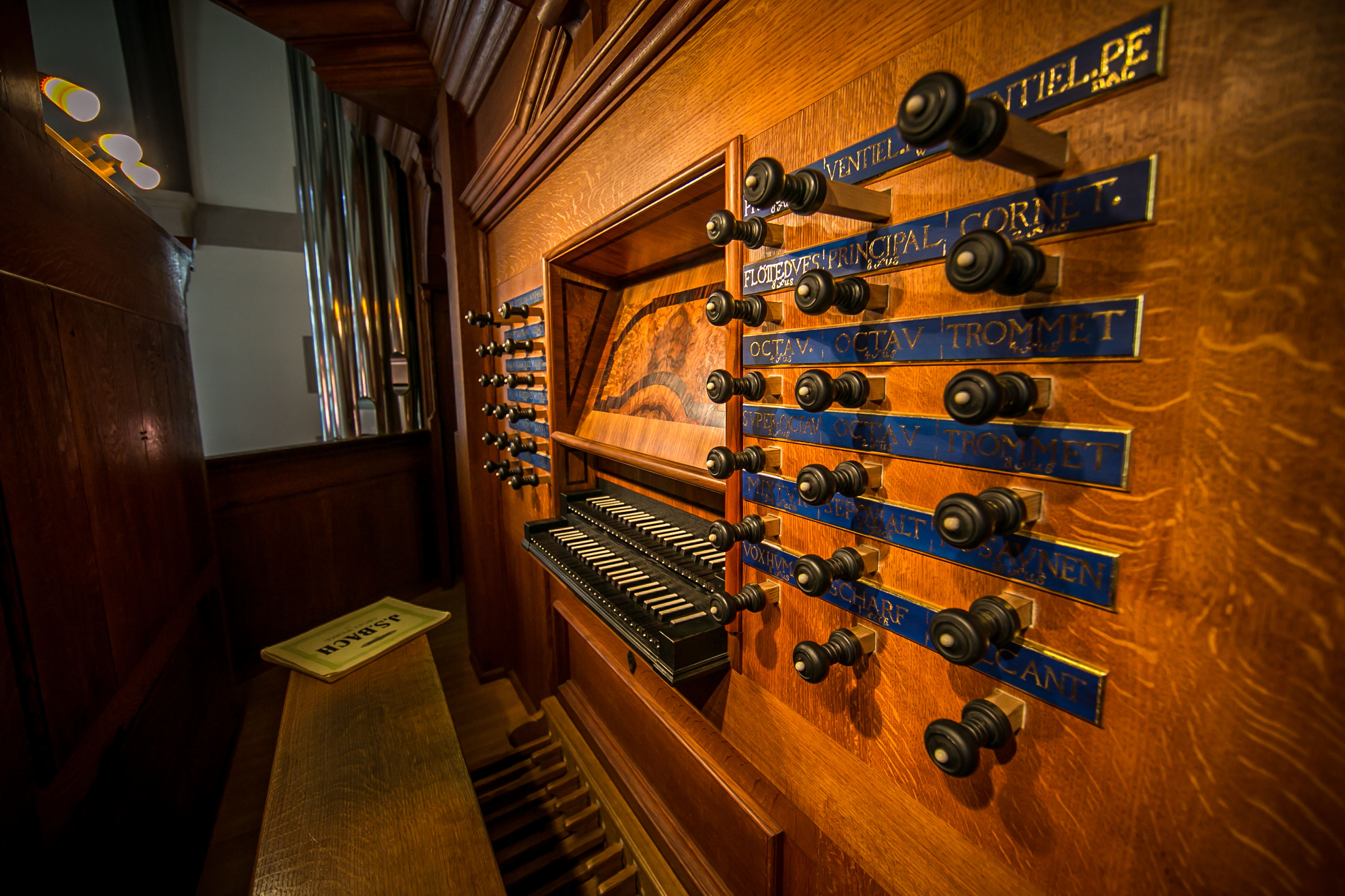 Richards usually plays either the new baroque organ in Anabel Taylor Hall or the mid-20th-century Aeolian-Skinner organ in Sage Chapel when she performs at Cornell.