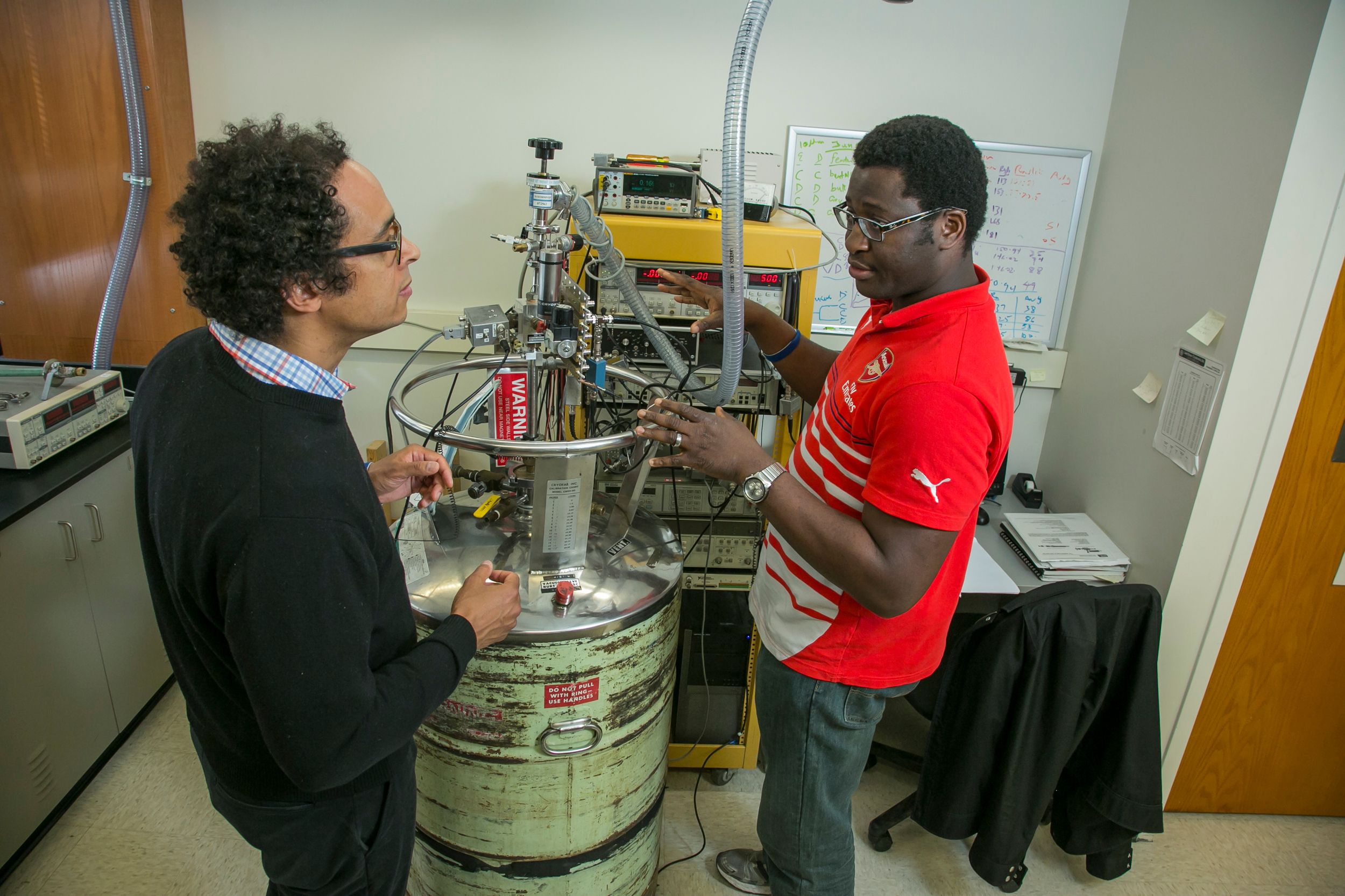 The Richardson lab investigates how to scale synthesis procedures for nanoparticles, other than traditional hot injection.