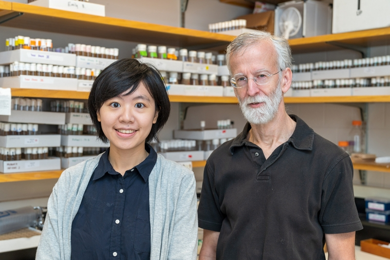 Chih-chun Lin, an inaugural Cornell Presidential Postdoctoral Fellow, with Andrew G. Clark, Molecular Biology and Genetics, in whose lab she works.