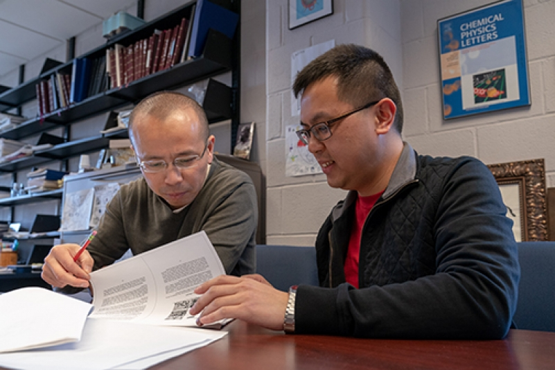 Rong Ye, a Cornell Presidential Postdoctoral Fellow, works with Professor Peng Chen, Chemistry and Chemical Biology.