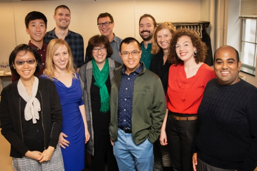 Martha Pollack and Christopher Wildeman with the ten inaugural Presidential Postdoctoral Fellows.