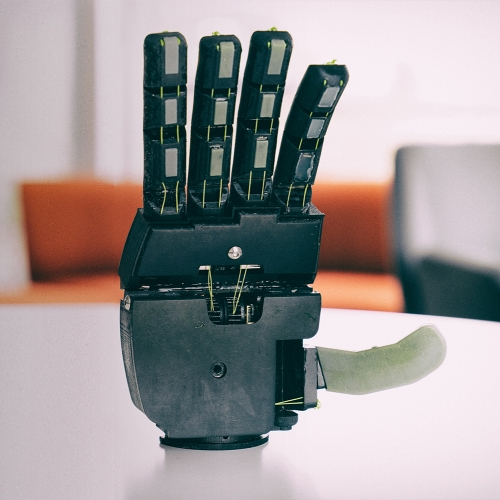 Robotic Hand with a High-Tech Transmission