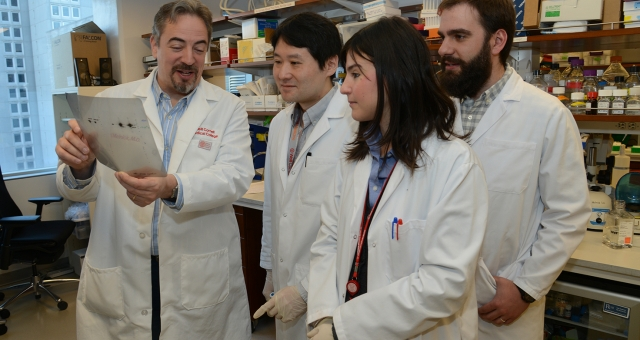 Ari Melnick with lab members